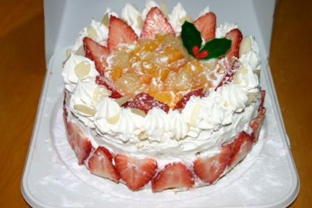 娘が作ったケーキ