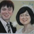 結婚式の絵